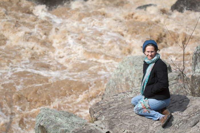 Day 70 - March 11, 2011 - Cathy at Great Falls