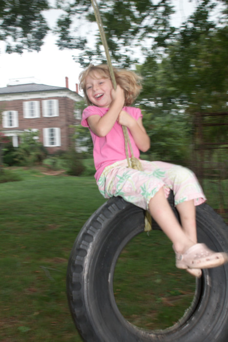 Day 239 - August 27, 2011 - Tire Swing